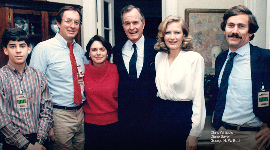 Chris Whipple, Diane Sayer and George H.W. Bush